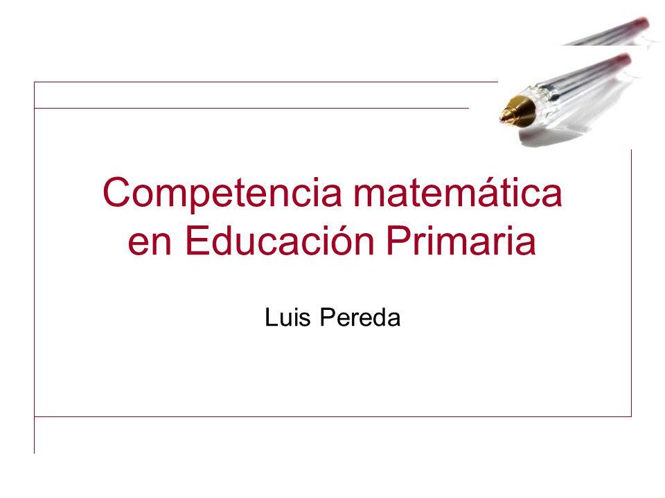 Competencia matemática en Educación Primaria