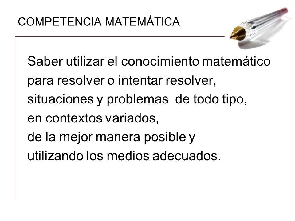 COMPETENCIA MATEMÁTICA