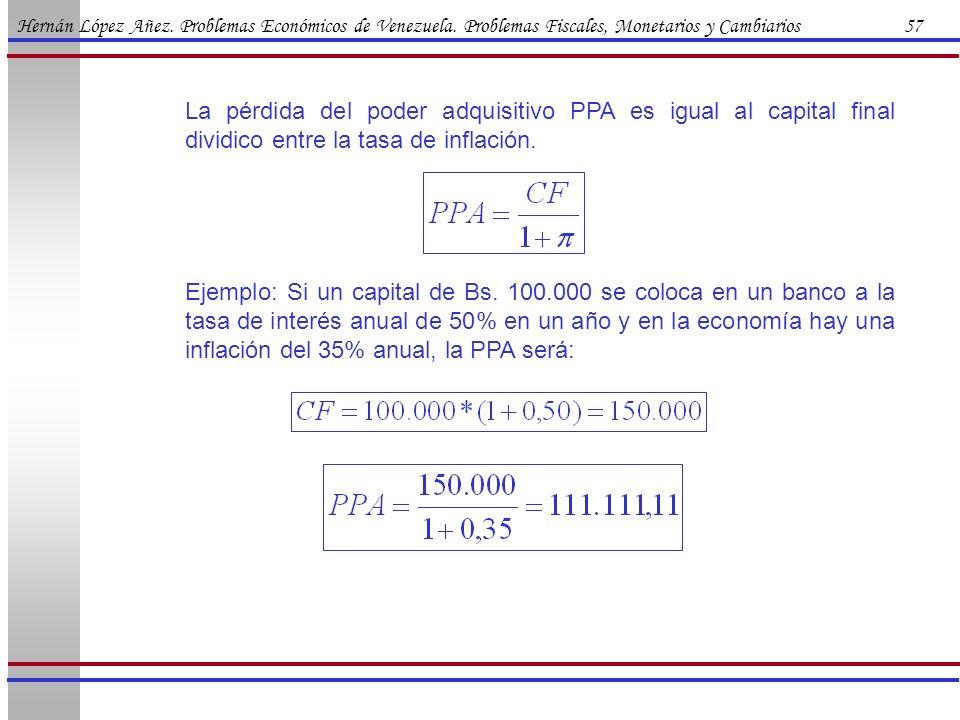 Hernán López Añez. Problemas Económicos de Venezuela