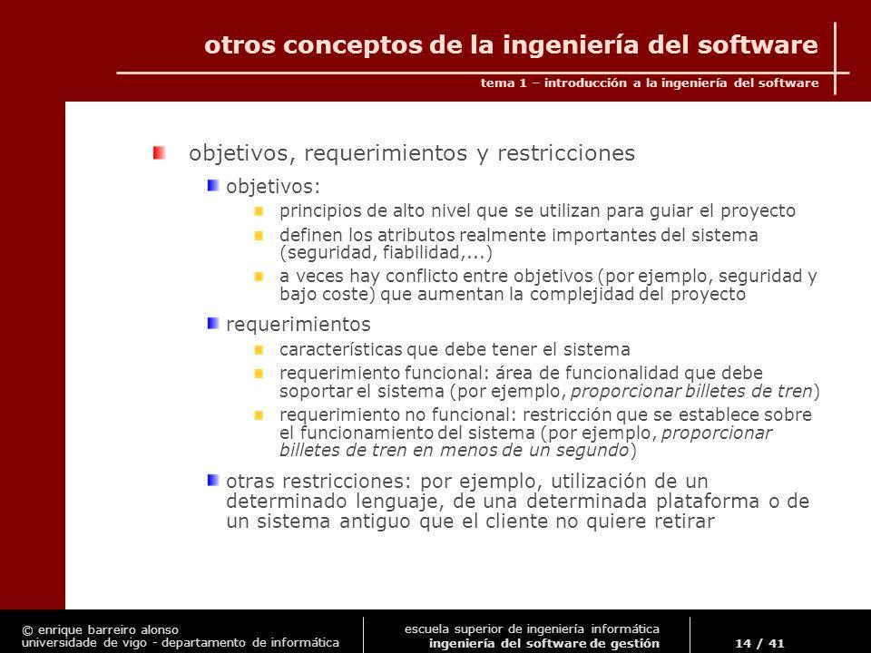 otros conceptos de la ingeniería del software