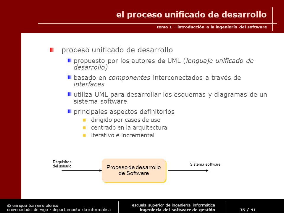 el proceso unificado de desarrollo