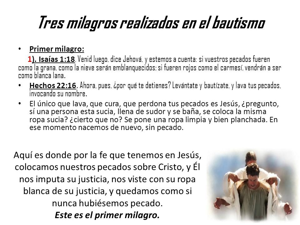 Tres milagros realizados en el bautismo