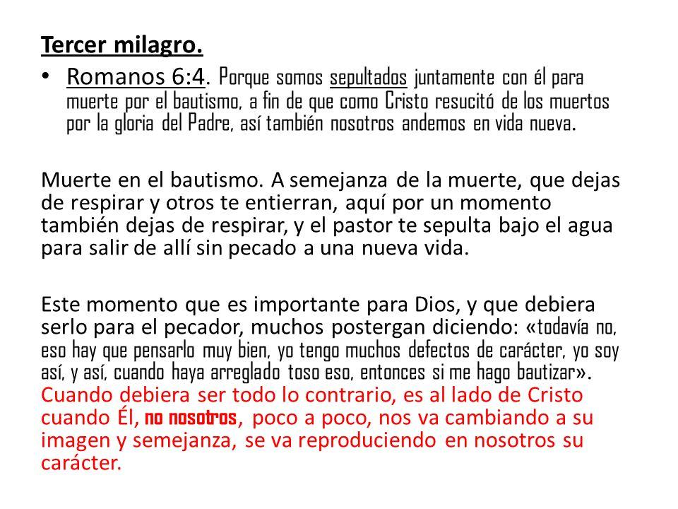 Tercer milagro.