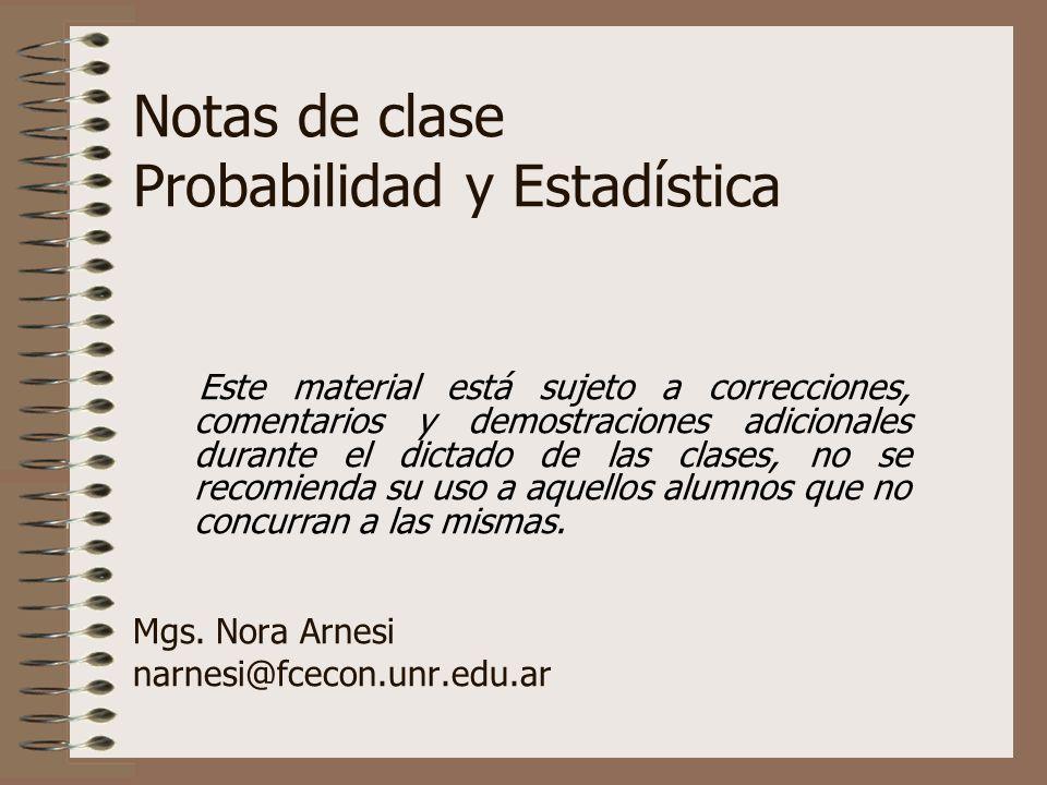 Notas de clase Probabilidad y Estadística Mgs