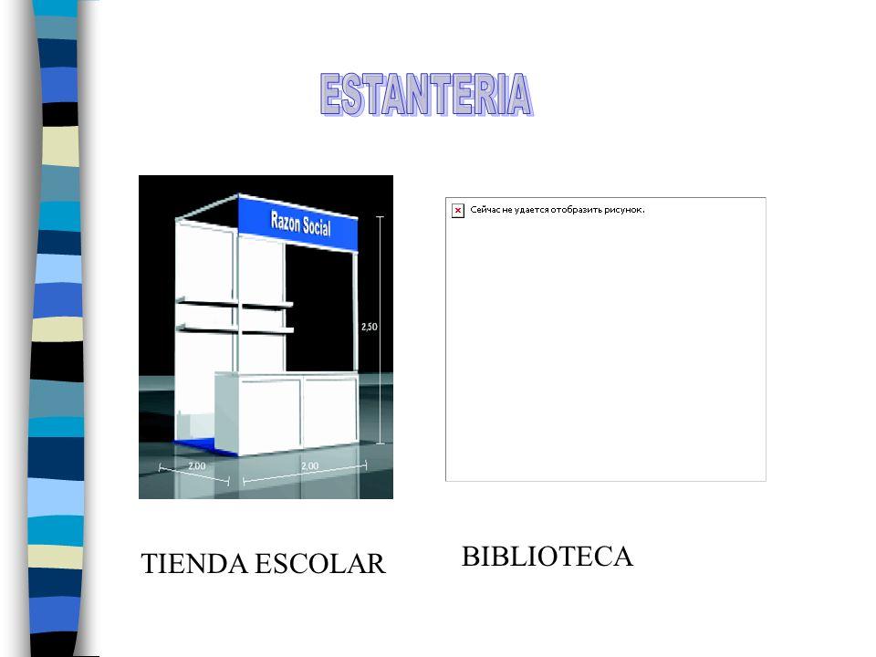 ESTANTERIA BIBLIOTECA TIENDA ESCOLAR