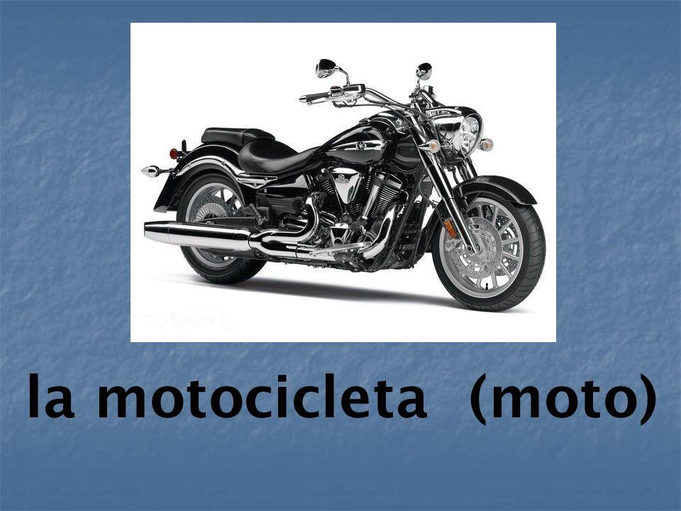 la motocicleta (moto)