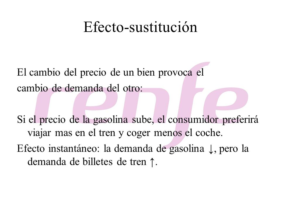 Efecto-sustitución