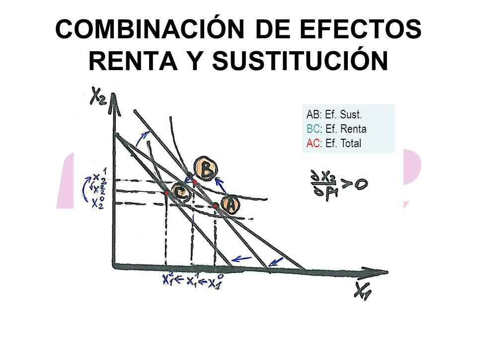COMBINACIÓN DE EFECTOS RENTA Y SUSTITUCIÓN