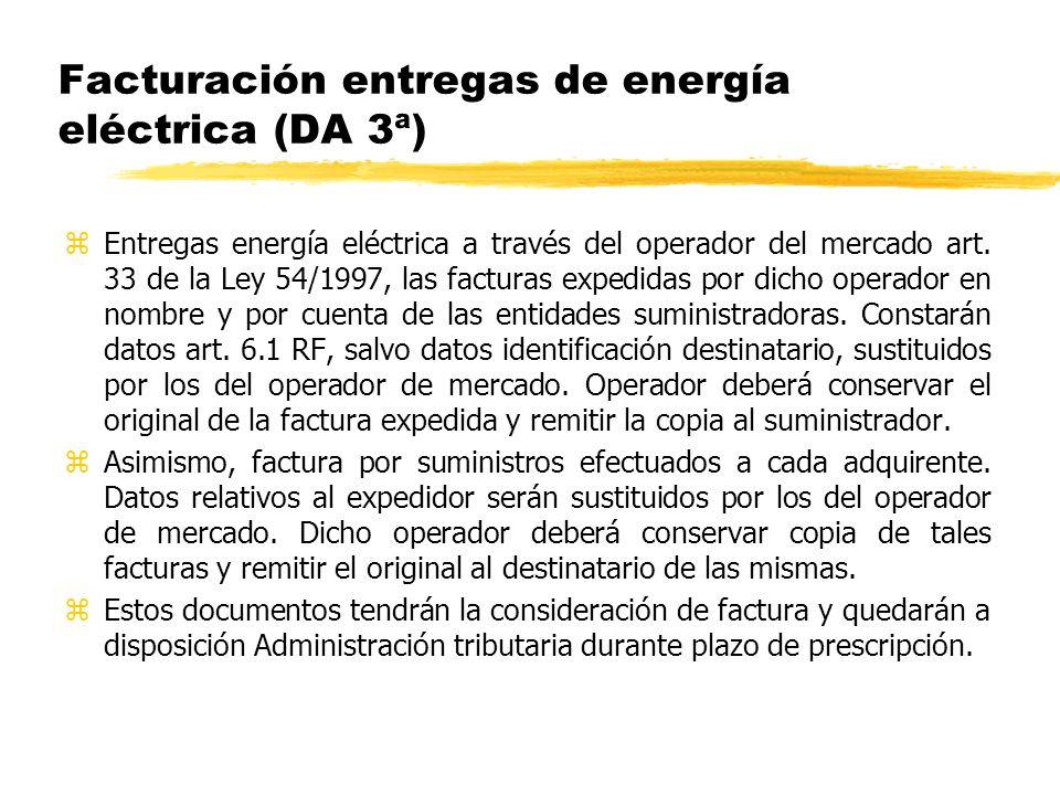 Facturación entregas de energía eléctrica (DA 3ª)