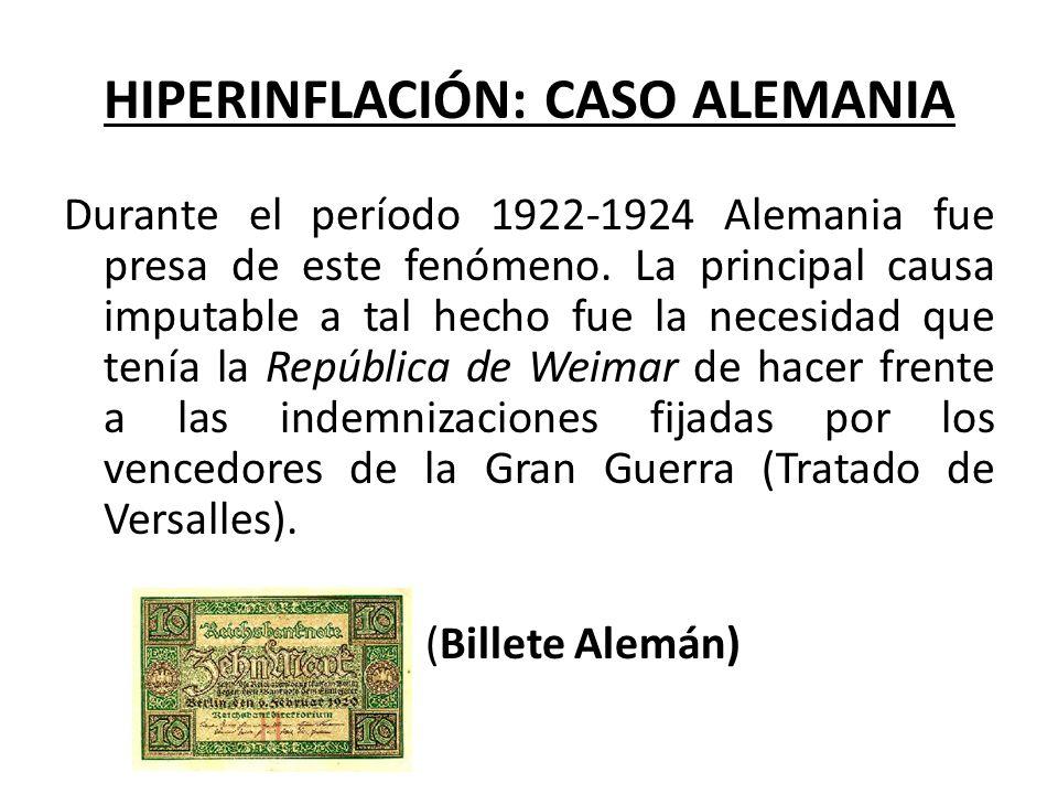 HIPERINFLACIÓN: CASO ALEMANIA