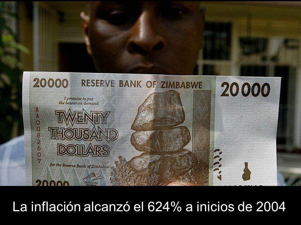 La inflación alcanzó el 624% a inicios de 2004