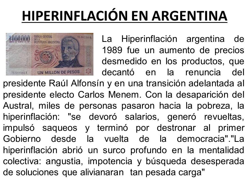 HIPERINFLACIÓN EN ARGENTINA