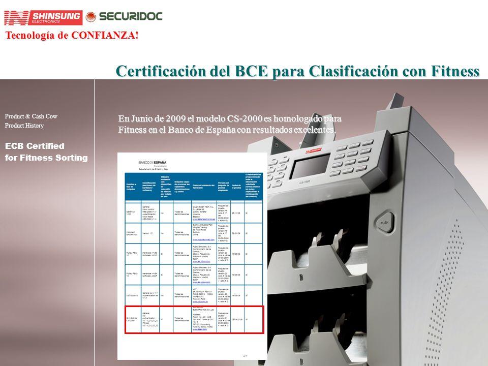 Certificación del BCE para Clasificación con Fitness