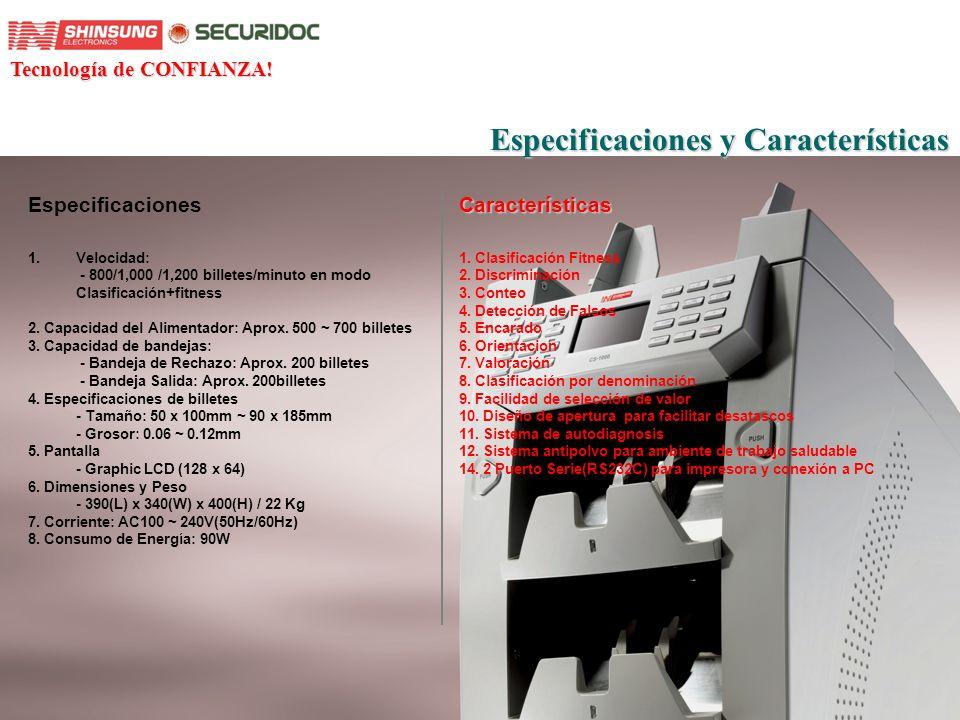 Especificaciones y Características