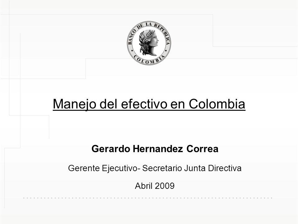 Manejo del efectivo en Colombia