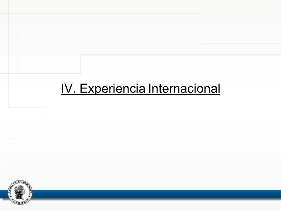 IV. Experiencia Internacional