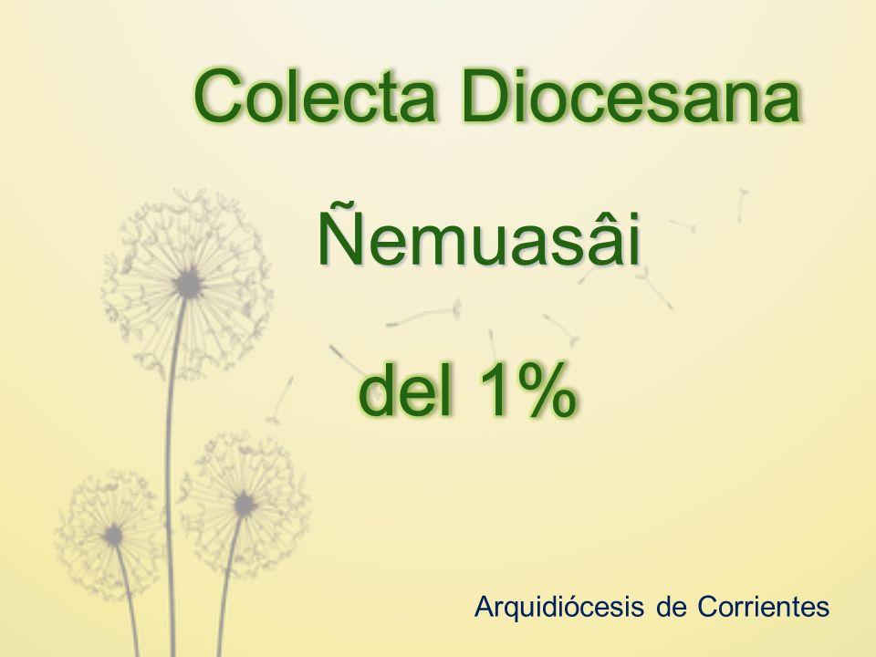 Colecta Diocesana Ñemuasâi del 1% Arquidiócesis de Corrientes