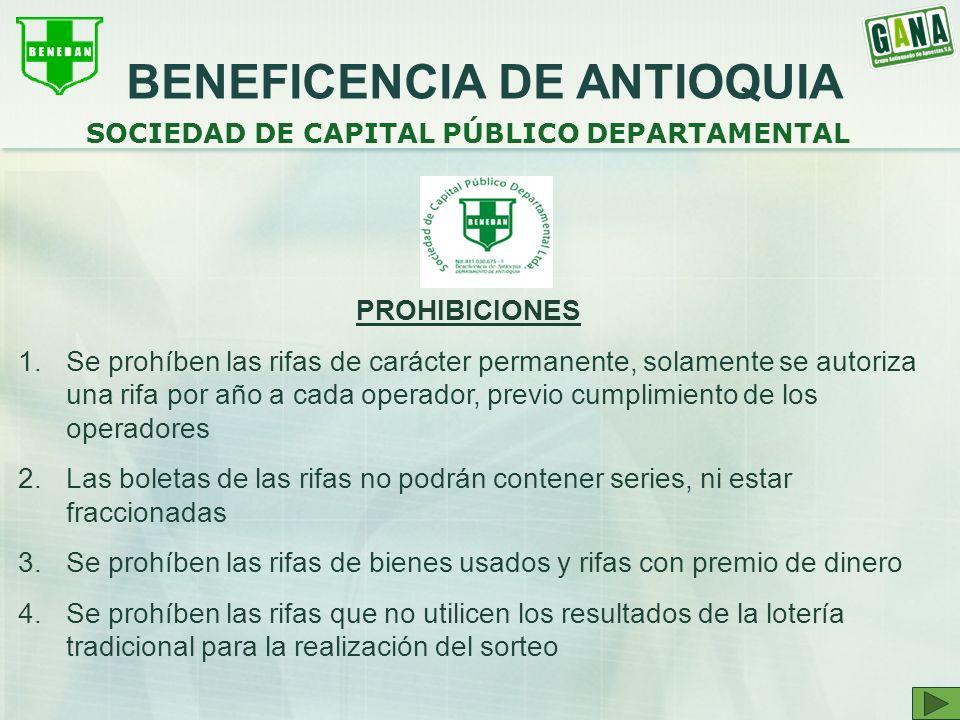 BENEFICENCIA DE ANTIOQUIA SOCIEDAD DE CAPITAL PÚBLICO DEPARTAMENTAL