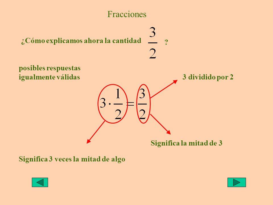 Fracciones ¿Cómo explicamos ahora la cantidad