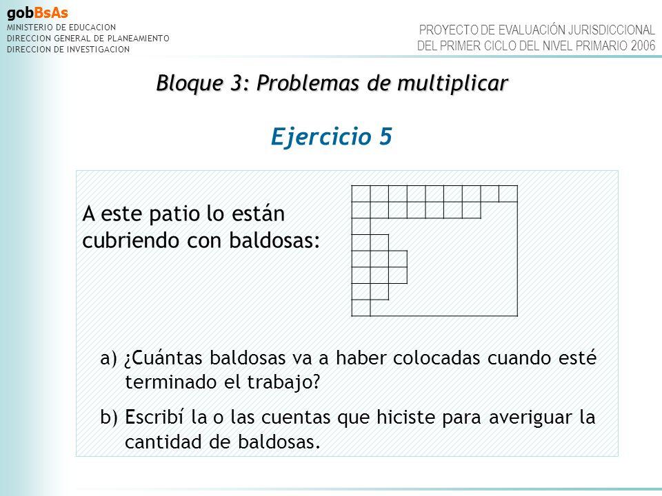 Bloque 3: Problemas de multiplicar