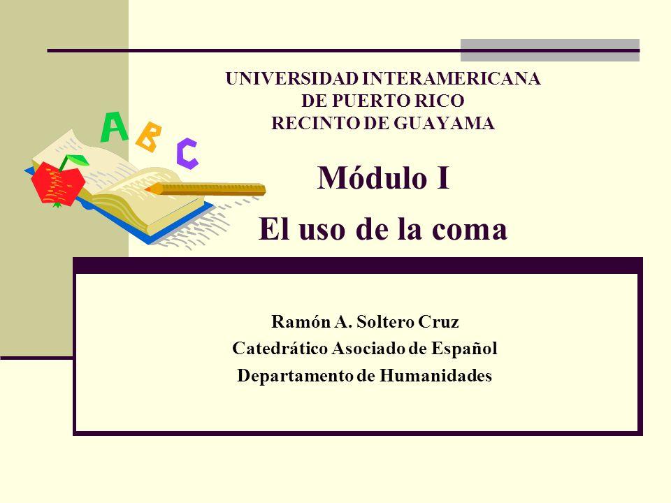 Catedrático Asociado de Español Departamento de Humanidades