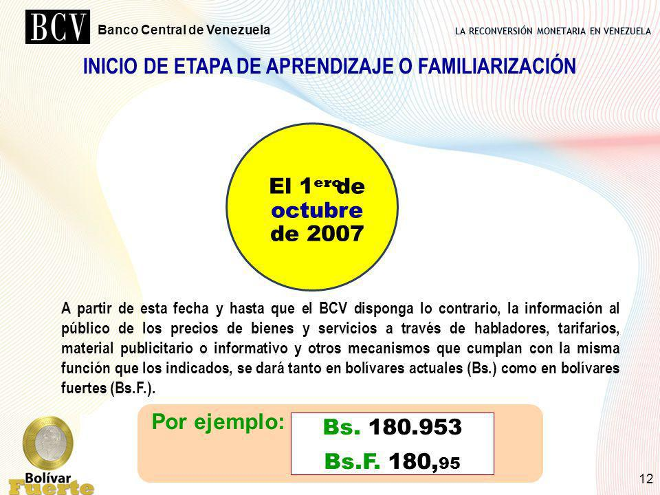 INICIO DE ETAPA DE APRENDIZAJE O FAMILIARIZACIÓN