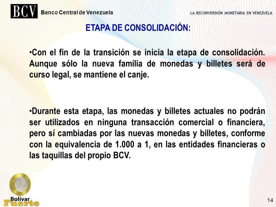ETAPA DE CONSOLIDACIÓN: