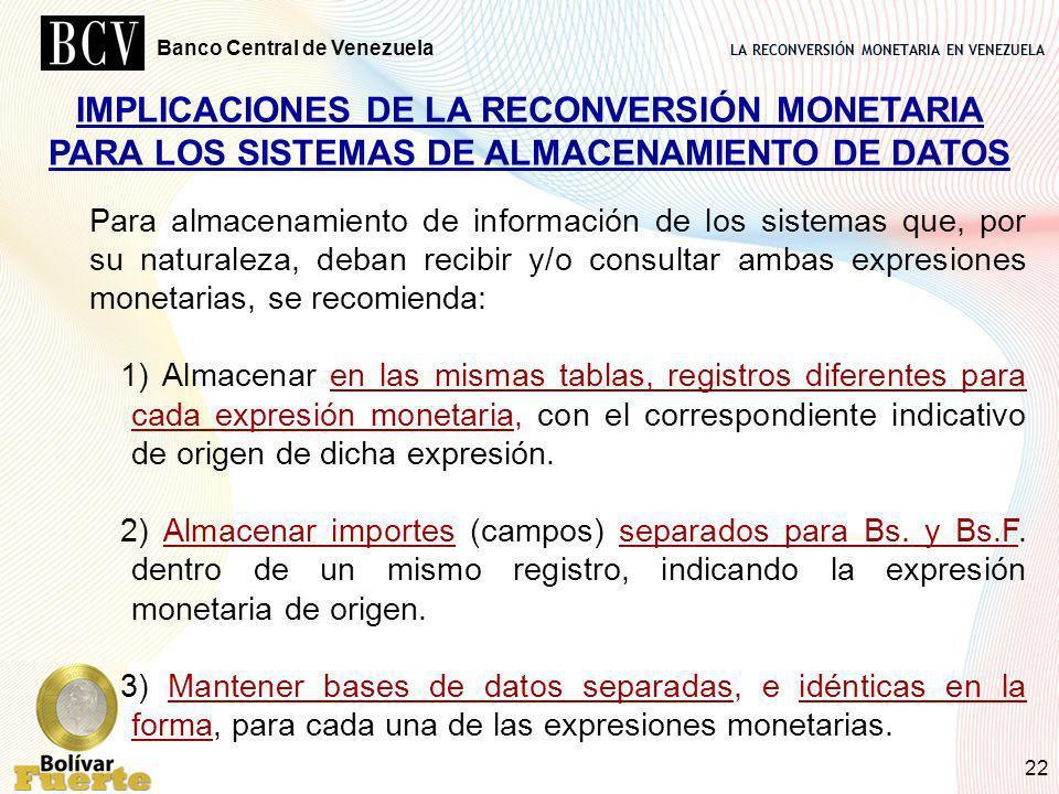 IMPLICACIONES DE LA RECONVERSIÓN MONETARIA