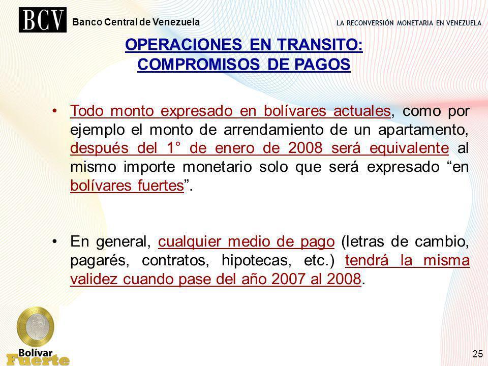 OPERACIONES EN TRANSITO: