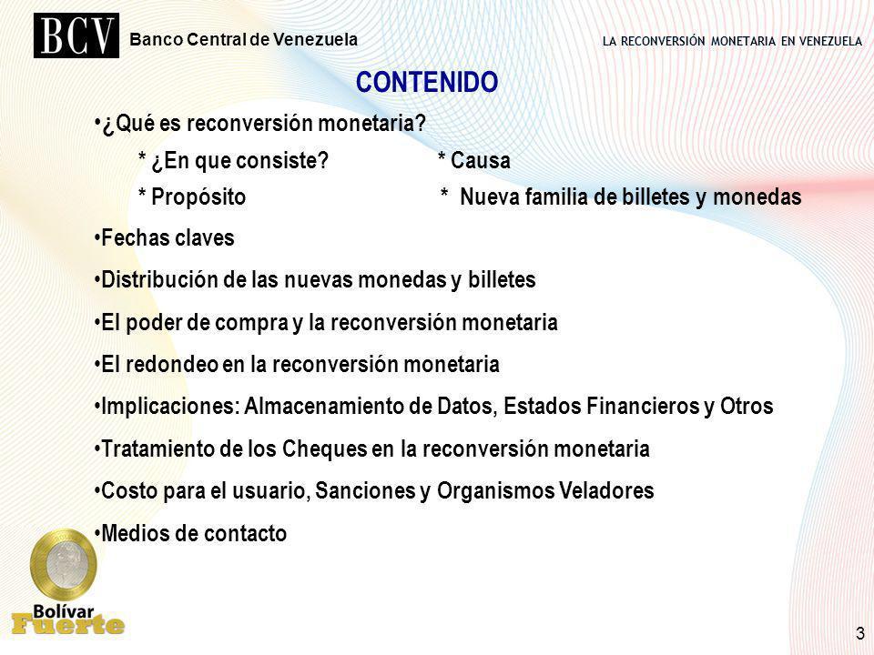 CONTENIDO ¿Qué es reconversión monetaria * ¿En que consiste * Causa