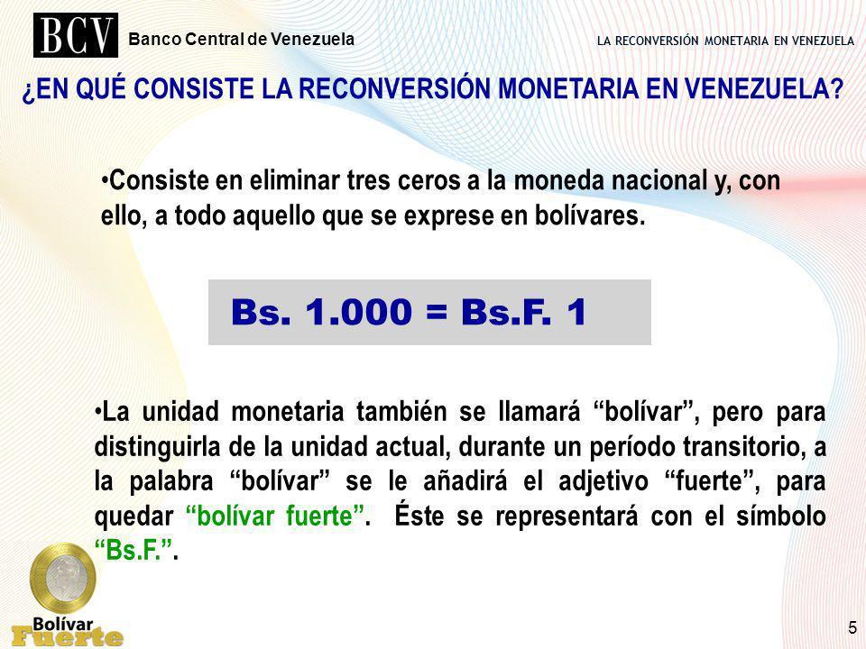 ¿EN QUÉ CONSISTE LA RECONVERSIÓN MONETARIA EN VENEZUELA