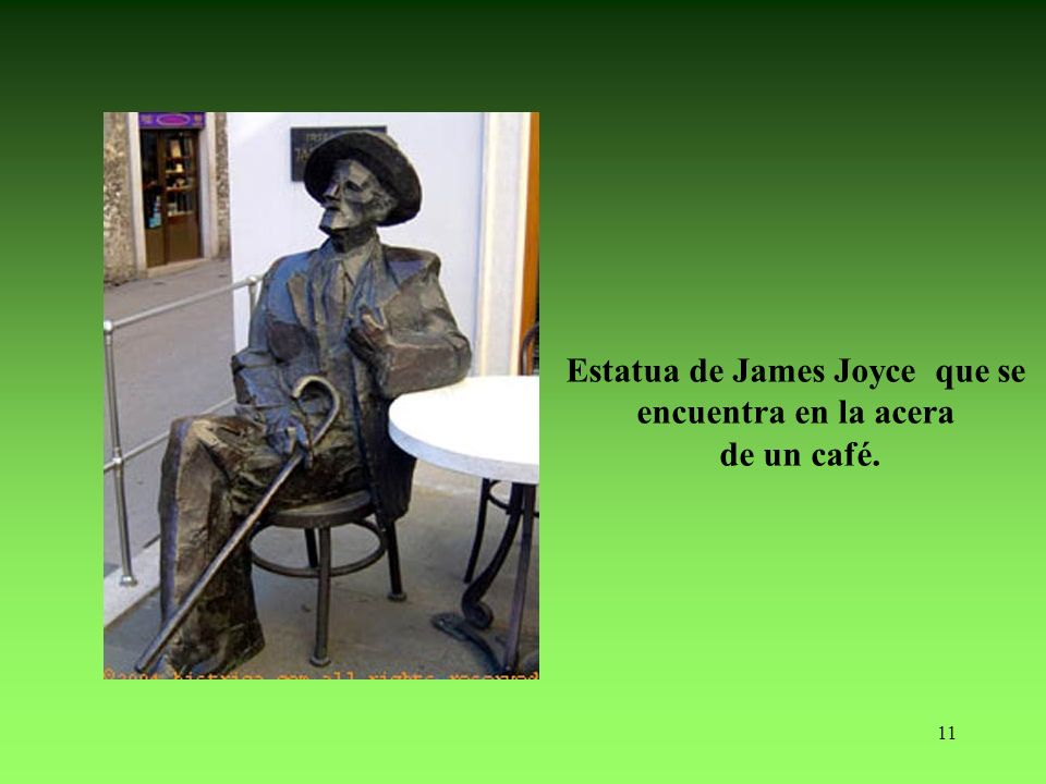 Estatua de James Joyce que se