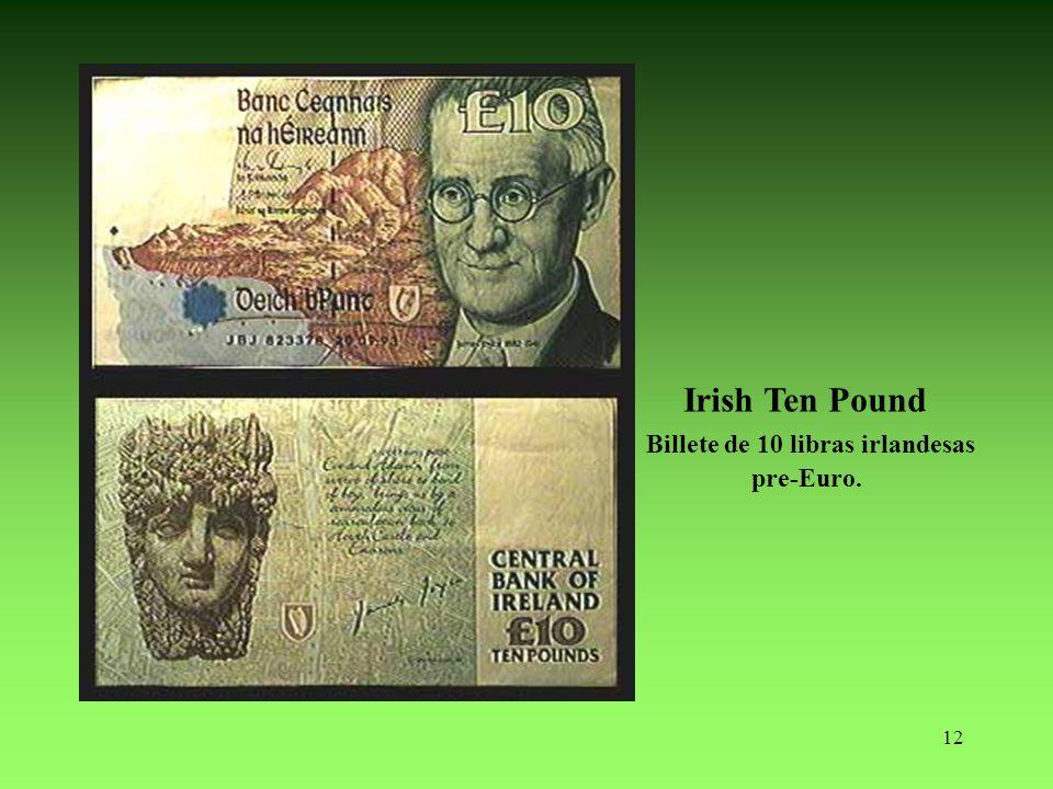 Billete de 10 libras irlandesas