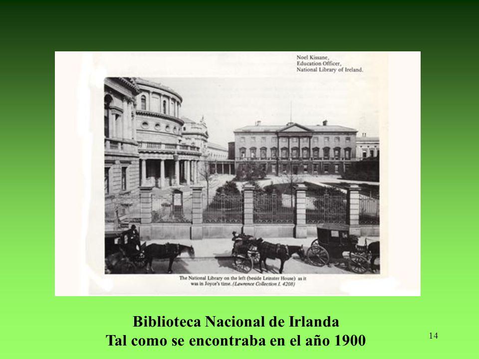 Biblioteca Nacional de Irlanda Tal como se encontraba en el año 1900