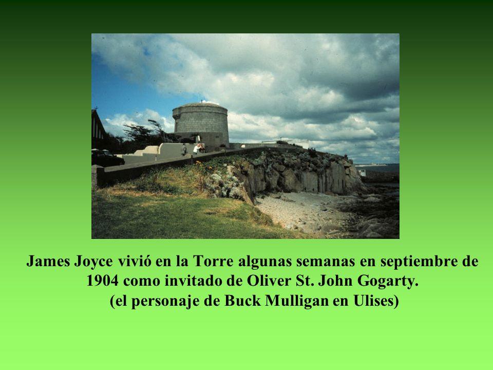 James Joyce vivió en la Torre algunas semanas en septiembre de 1904 como invitado de Oliver St.