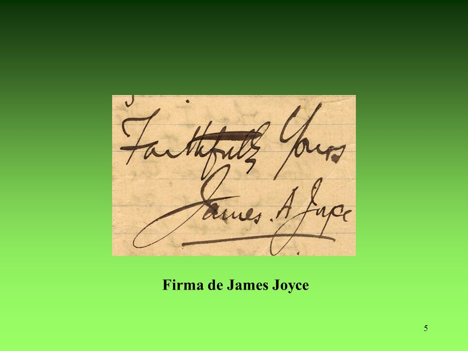 Confiado suyo James A. Joyce