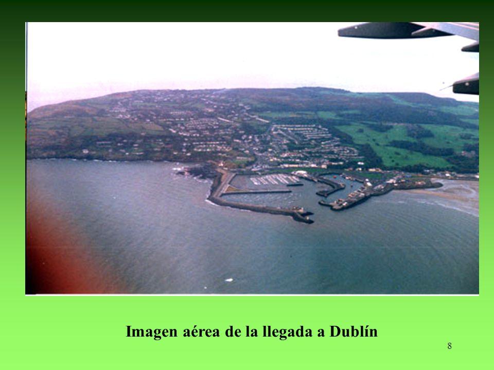 Imagen aérea de la llegada a Dublín