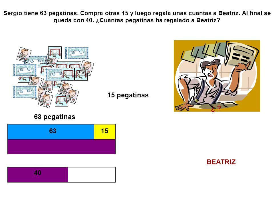 15 pegatinas ¿ 63 pegatinas 63 15 BEATRIZ 40