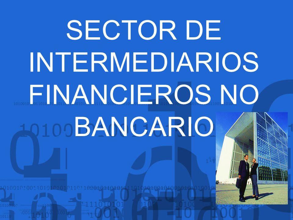 SECTOR DE INTERMEDIARIOS FINANCIEROS NO BANCARIO