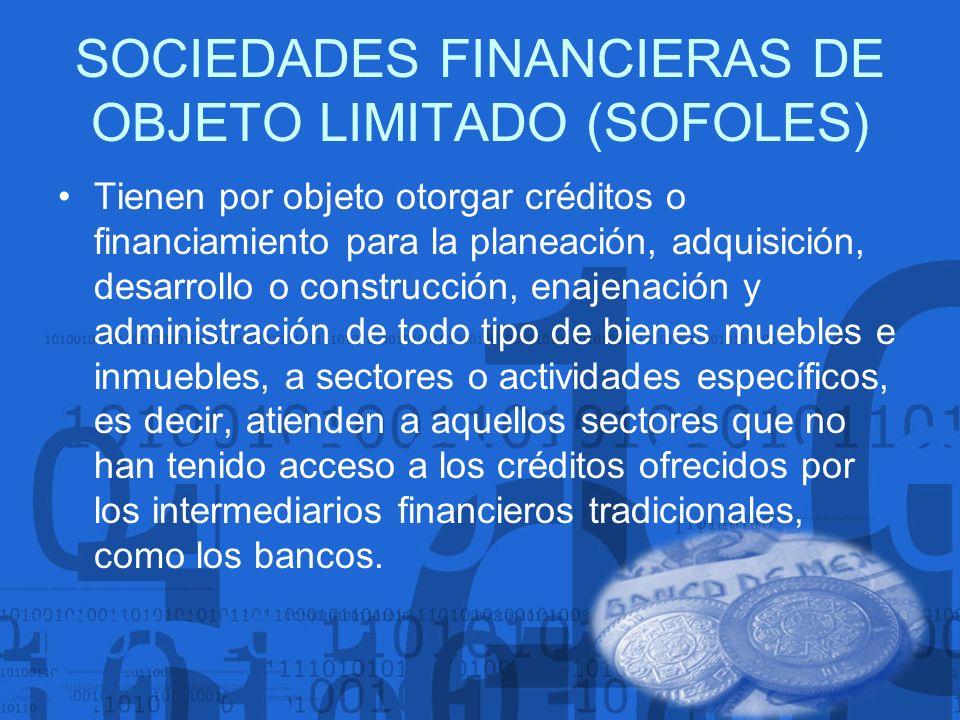 SOCIEDADES FINANCIERAS DE OBJETO LIMITADO (SOFOLES)