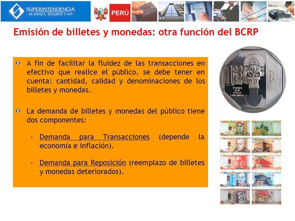 Emisión de billetes y monedas: otra función del BCRP