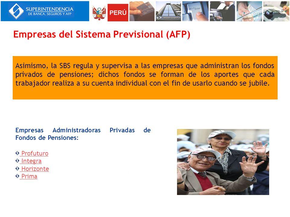 Empresas del Sistema Previsional (AFP)