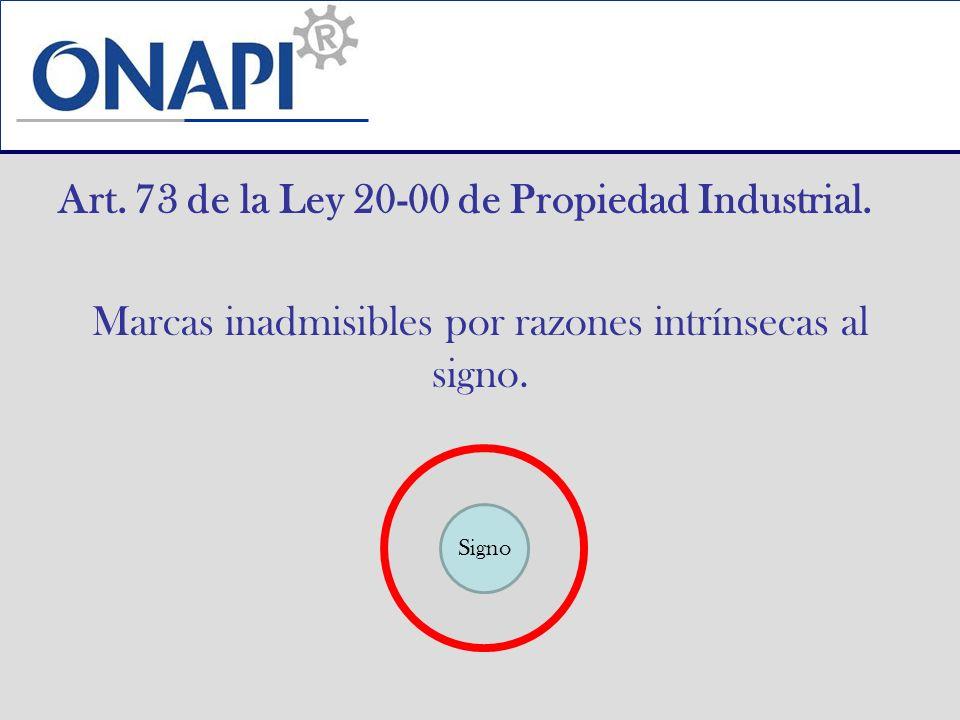 Art. 73 de la Ley 20-00 de Propiedad Industrial