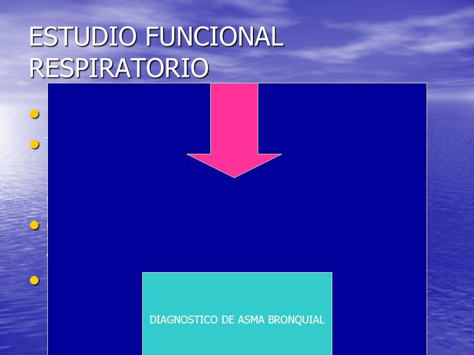 ESTUDIO FUNCIONAL RESPIRATORIO