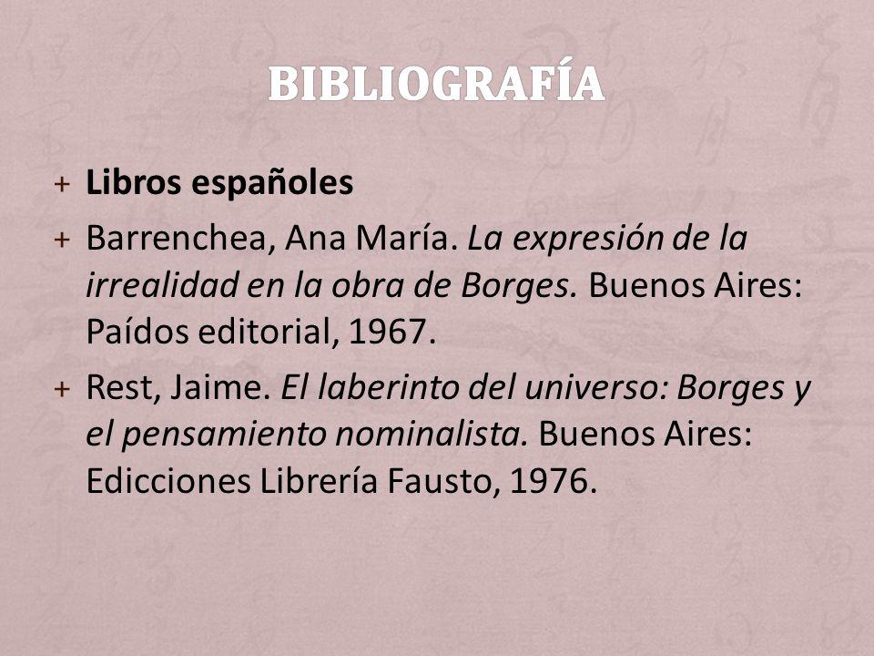 Bibliografía Libros españoles