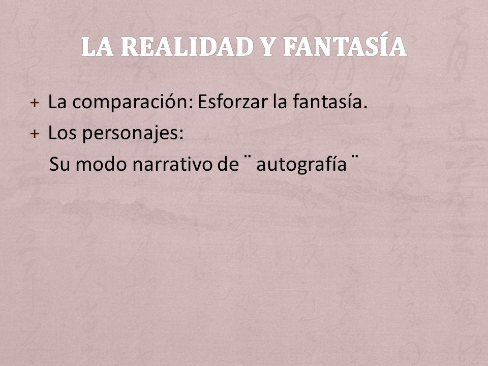 La realidad y fantasía La comparación: Esforzar la fantasía.