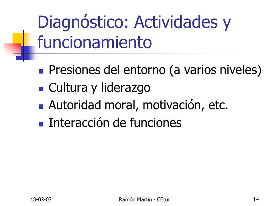 Diagnóstico: Actividades y funcionamiento