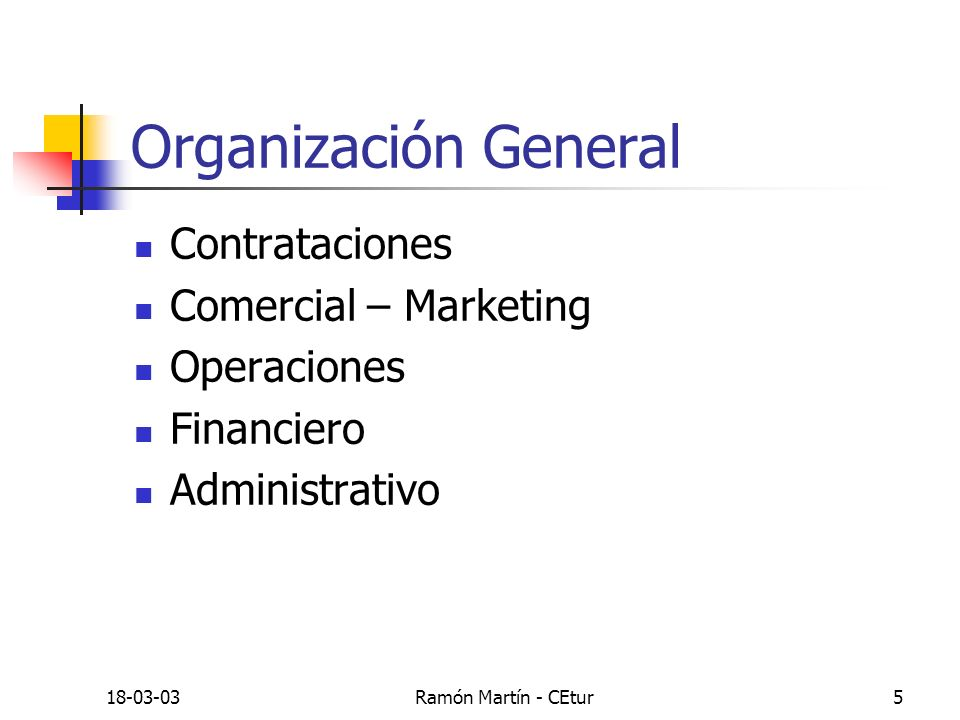 Organización General Contrataciones Comercial – Marketing Operaciones