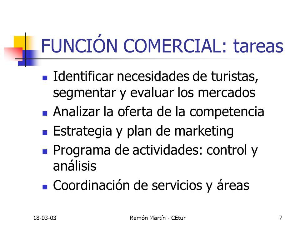 FUNCIÓN COMERCIAL: tareas