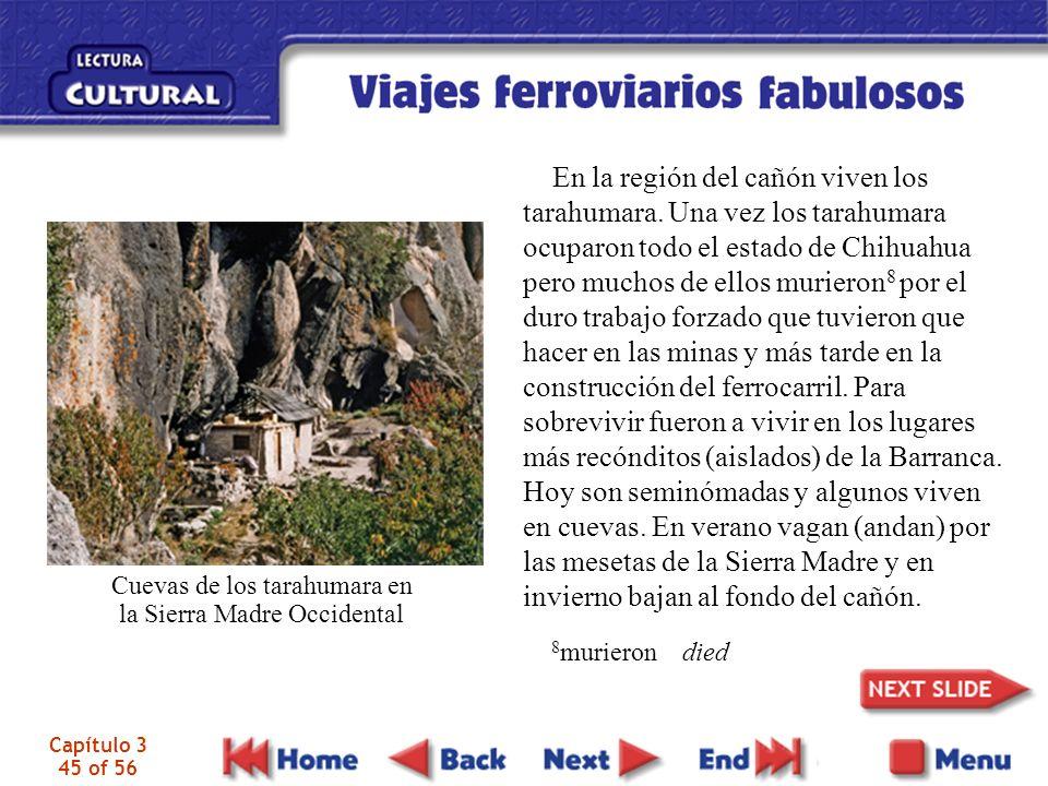 En la región del cañón viven los tarahumara